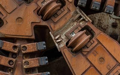 Rusty mechanism wallpaper