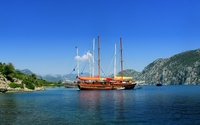 Sailing ship wallpaper 1920x1200 jpg