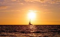 Sailing ship enjoying the ocean sunset wallpaper 1920x1200 jpg