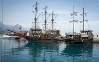 Sailing ships in the harbor wallpaper 1920x1200 jpg