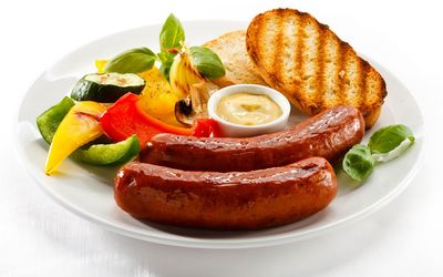Sausage breakfast wallpaper
