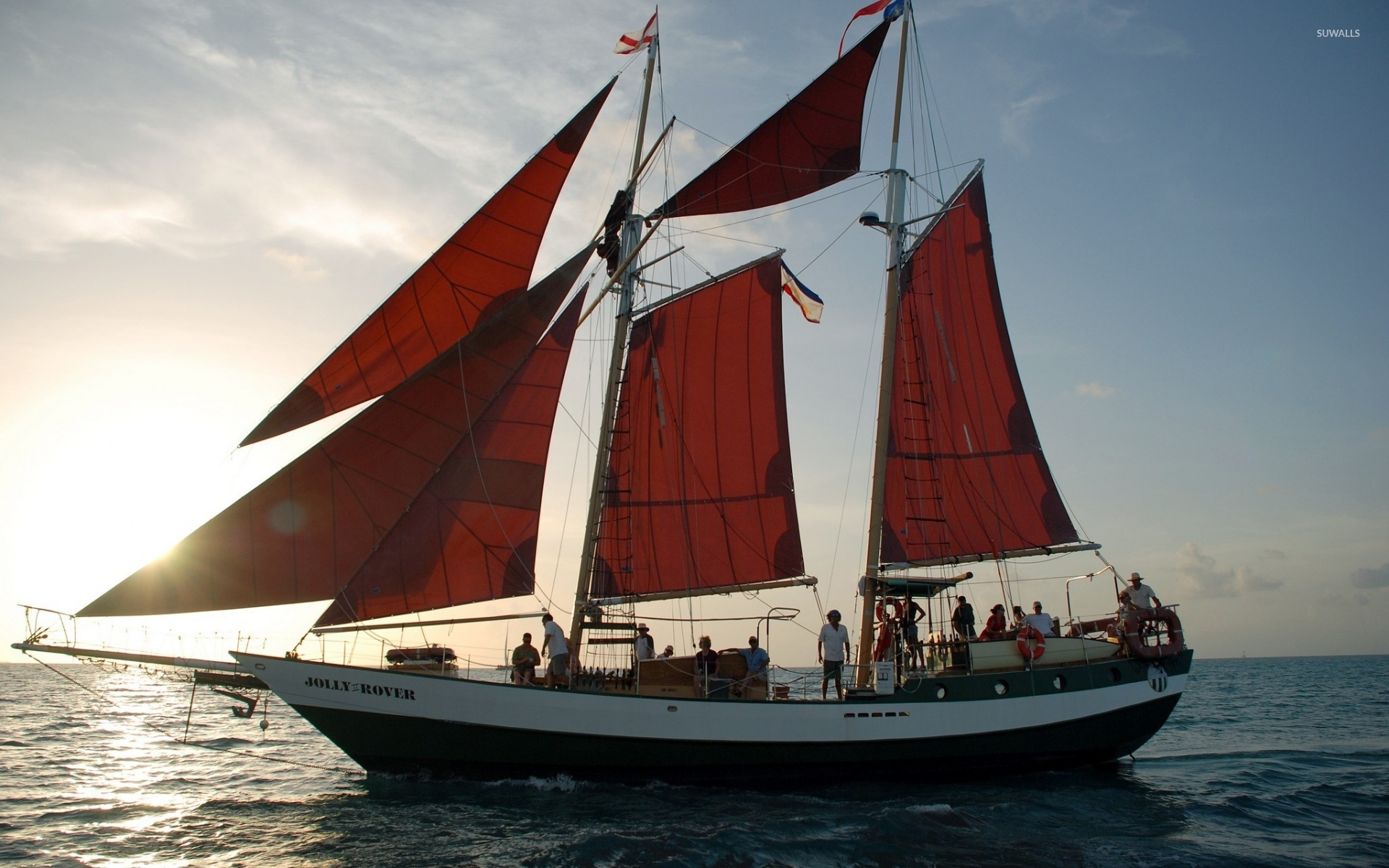 Schooner Jolly II Rover wallpaper