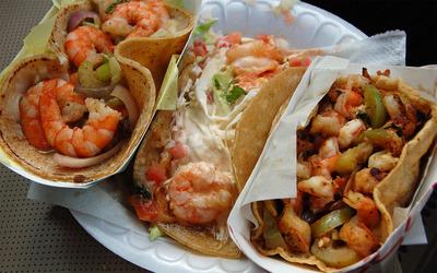 Shrimp tacos wallpaper