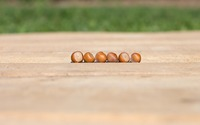 Six hazelnuts on the table wallpaper 3840x2160 jpg