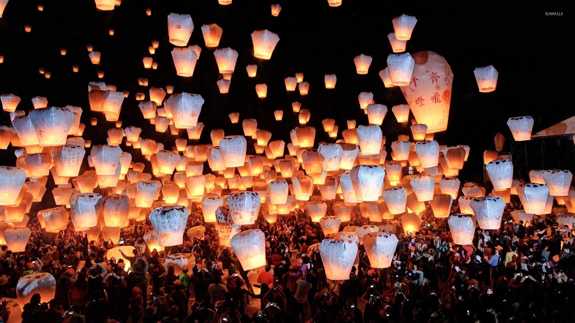 sky lanterns 47912