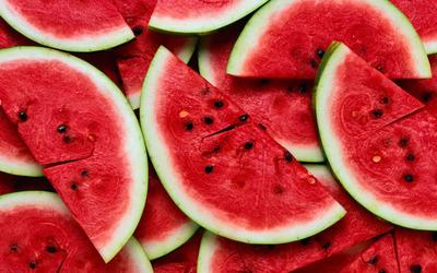 Sliced watermelon wallpaper