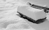 Snow on the bench wallpaper 3840x2160 jpg