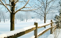 Snowy fence wallpaper 1920x1080 jpg