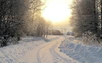 Snowy road [2] wallpaper 1920x1080 jpg