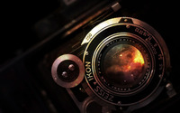 Space in vintage camera lens wallpaper 1920x1080 jpg