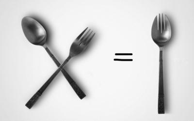 Spoon plus fork wallpaper