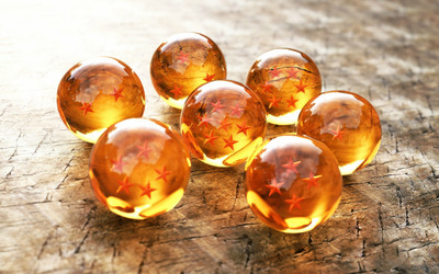 Stars in glass spheres wallpaper