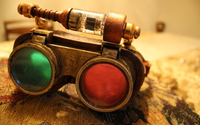 Steampunk 3D glasses wallpaper