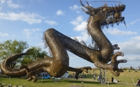 Straw dragon statue wallpaper 2560x1440 jpg