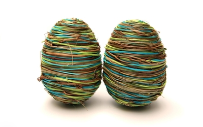 Straw easter eggs wallpaper
