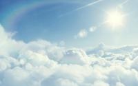 Sun above the clouds wallpaper 2560x1600 jpg
