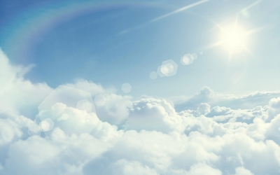 Sun above the clouds wallpaper