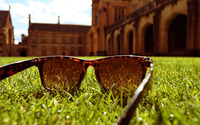 Sunglasses in the grass wallpaper 1920x1200 jpg