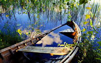 Sunken rowboat wallpaper 1920x1200 jpg