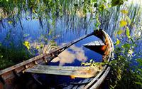 Sunken rowboat wallpaper 1920x1200 jpg