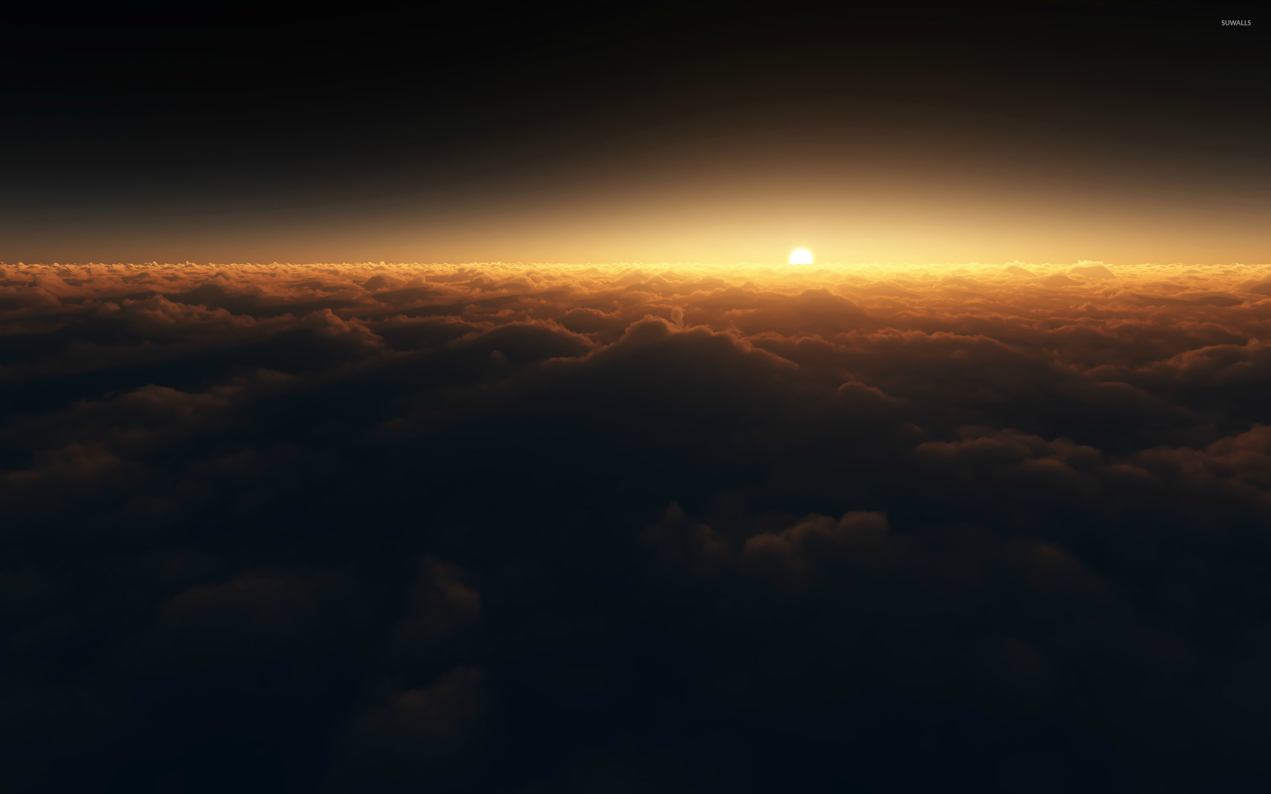 Sunset above the clouds wallpaper Photography wallpapers 14771
