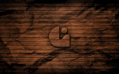 Symbol on wood texture wallpaper
