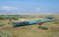 Train in Kazakhstan wallpaper 3840x2160 jpg
