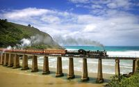 Train on the long bridge wallpaper 1920x1080 jpg