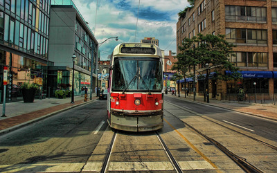 Tram in Toronto wallpaper