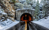 Tunnel through the mountain wallpaper 1920x1200 jpg