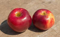 Two ripe apples wallpaper 3840x2160 jpg
