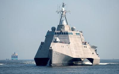 USS Independence combat ship wallpaper