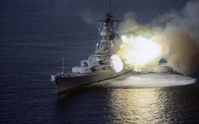 USS Wisconsin battleship wallpaper