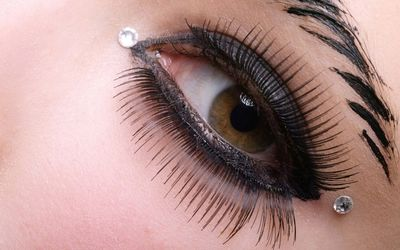 Very long false lashes Wallpaper