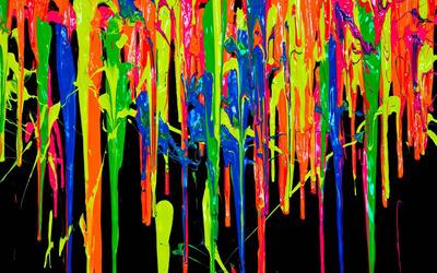 Vibrant paint flow wallpaper