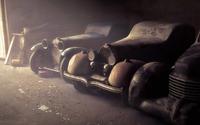 Vintage cars in the garage wallpaper 1920x1080 jpg