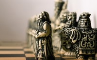 Vintage chess pieces wallpaper 1920x1080 jpg