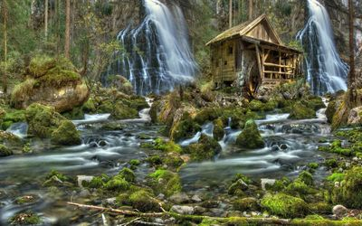Watermill wallpaper