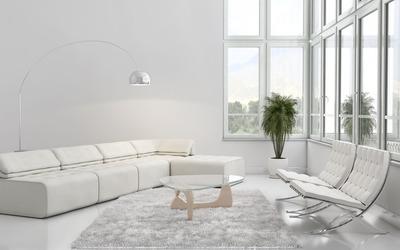 White living room wallpaper