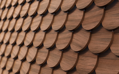 Wood circles wallpaper