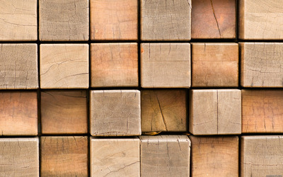 Wooden blocks wallpaper