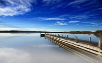 Wooden pier at the lake wallpaper 2560x1600 jpg