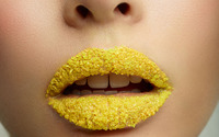 Yellow sugar lips wallpaper 3840x2160 jpg