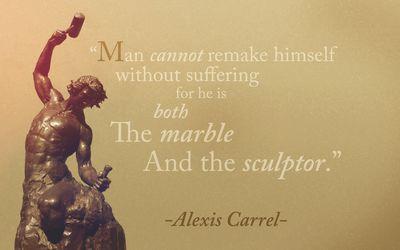 Alexis Carrel quote wallpaper