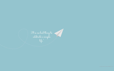 Celebrate a simple life wallpaper