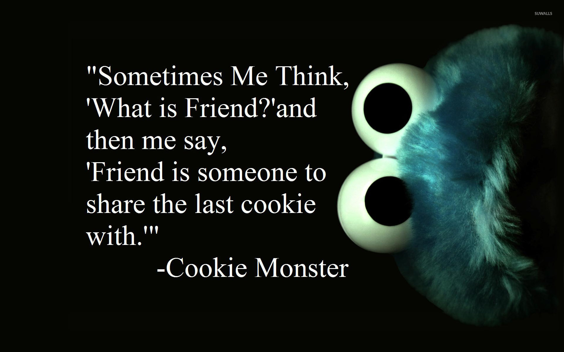 Cookie Monster About Friends Wallpaper