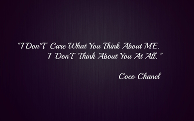 I don't care what you think about me wallpaper