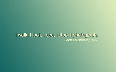 I walk, I look, I see, I stop, I photograph wallpaper