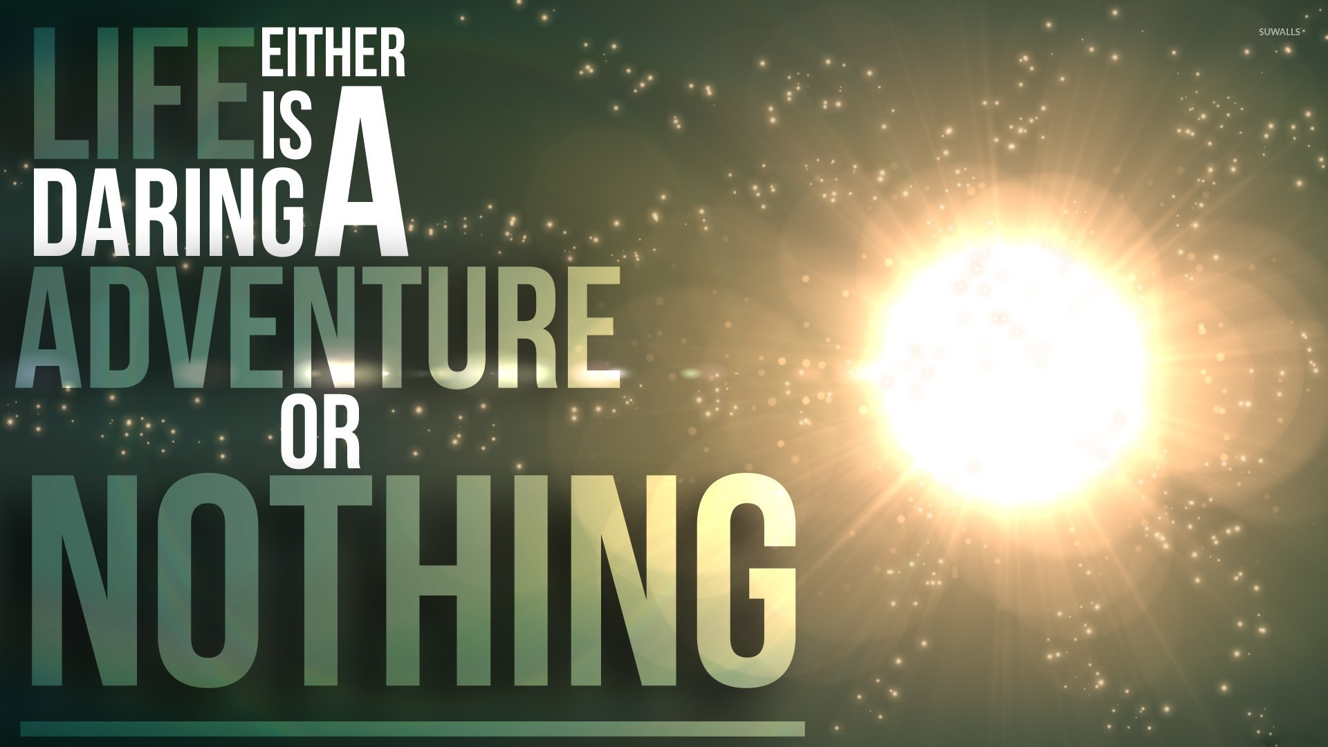 Adventure Quotes Pictures Images: Life Is An Adventure Or Nothing Wallpaper