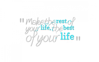 Make the rest of your life, the best of your life wallpaper 1920x1200 jpg